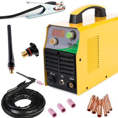 Tig 110220v Dc Inverter 200amp Argon Gas Wig Welding Machine Weld Welder Easy