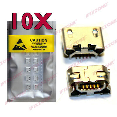 10 X New Micro USB 5 Pin with Horn Charging Sync Port Mount Jack Connector USA
