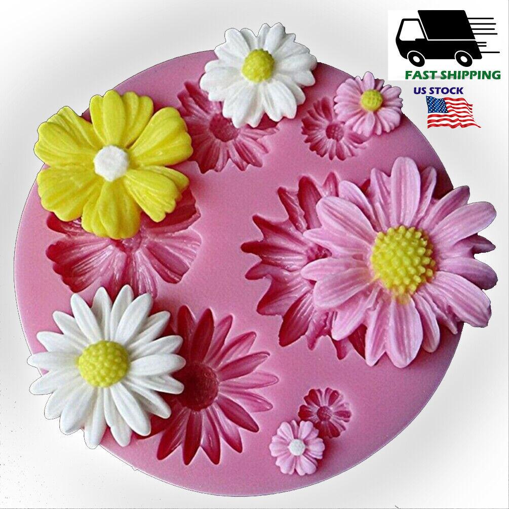3D Flower Silicone Sugarcraft Fondant Mold Cake Baking Mould W6A7 I1R8