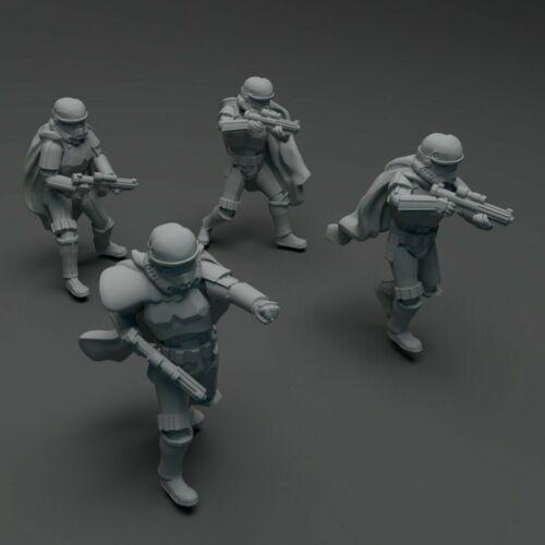 Star Wars Legion - Wet Weather Mimban Storm Trooper Squad (4) 3D Resin Printed