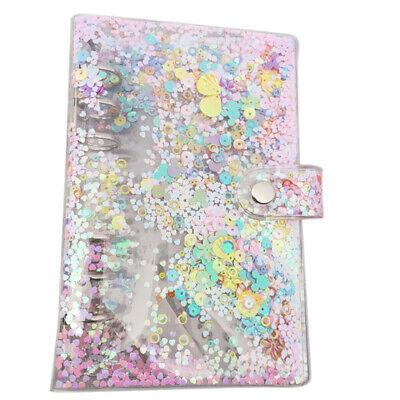A5a6 Sequins Notebook Cover Loose Leaf Ring Binder File Folder Shake Card Gift