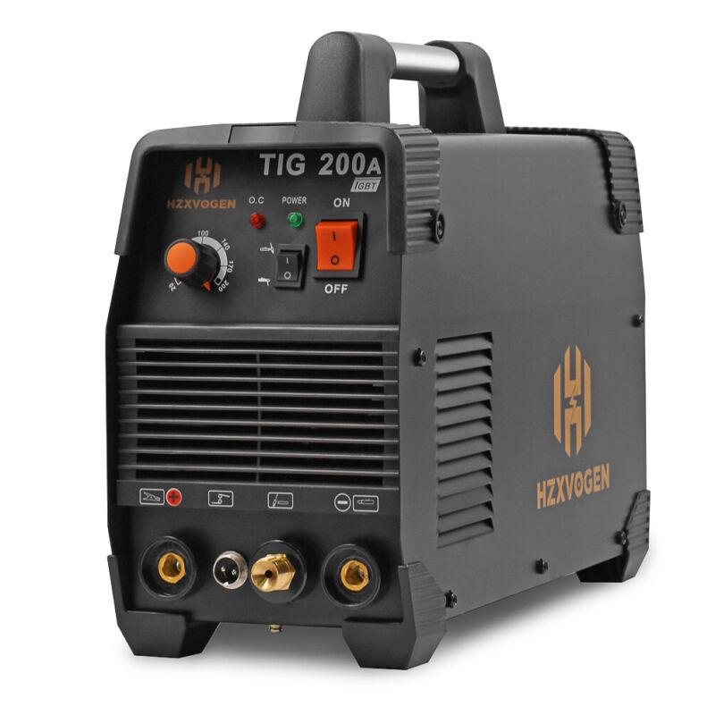 HZXVOGEN TIG Welding Machine 110V/220V 200amp High Frequency MMA 200 TIG Welder