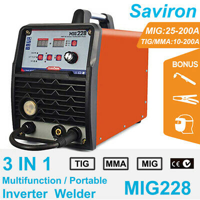 200a Mig Welder Tig Stick Mag Gassless Argon Gas Mma Welding Machine 110220v