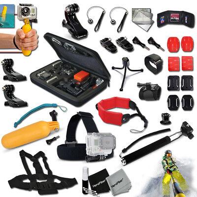Xtech® f/GoPro HERO4 Hero 4 Authoritative Acc Kit w/Custom Case +Head Mount +MORE