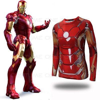 Avengers Age of Ultron Iron Man Tony Stark Cos Printed Kostüm Herren T-Shirt  ()