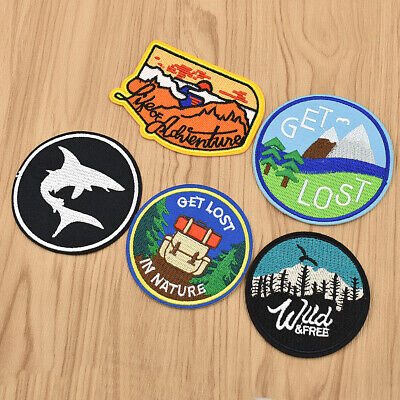 - Adventure Hiking Travel Souvenir Badge Patch for DIY Sewing Craft Jeans Applique