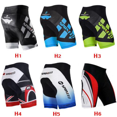Mens Cycling Bike Shorts 4D Gel Padded Biking Clothing Lycra
