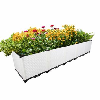 Planter Boxes Diy (Deepened Garden Outdoor DIY Planter Box Pots Vegetables Flowers Succulents)