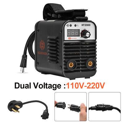 Hzxvogen 110220v Welder Dual Volt Arc Stick Portable Inverter Welding Machine