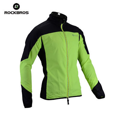RockBros Bike Cycling Jacket Bicycle Riding Rain Coat Windproof High Visibility