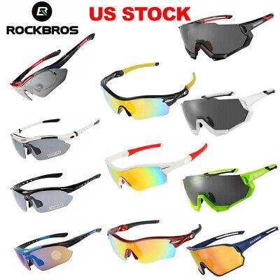 ROCKBROS Polarized Bike Sunglasses Cycling Goggles Sports Glasses US (Sports Sun Glasses)