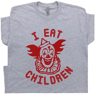 Carnival Novelties (Funny Clown T Shirt Offensive Saying Vintage Circus Novelty Evil I Eat Children)