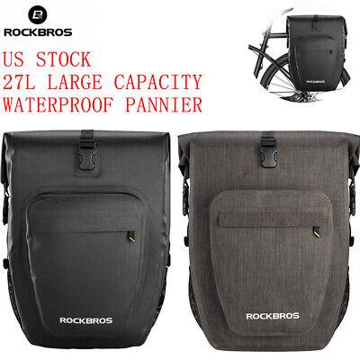 ROCKBROS Bike Rack Bags Waterproof Cycling Rear Seat Pannier Cycle Pack Travel
