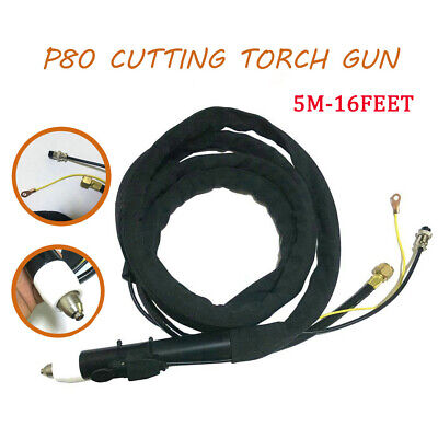 Cnc Plasma Cutting Torch Head Body P80 Complete Gun 5 Meter Spanner For Cut Lgk