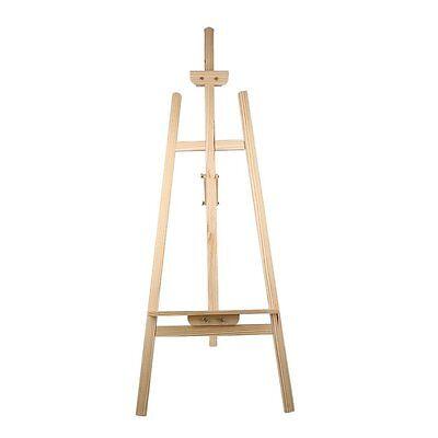 Staffelei Atelierstaffelei Standstaffelei Dreifuss Stand Buchenholz 150cm DE