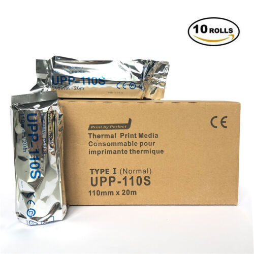 UPP 110S (10 rolls) 110mm x 20m for Sony Ultrasounic Thermal Printer Paper
