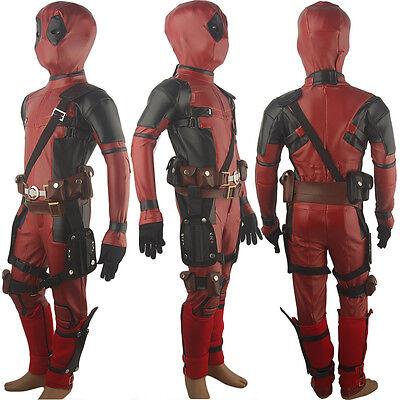 Kids Boys X-Men Deadpool Wade Wilson costume Halloween cosplay costume - X Men Deadpool Costume