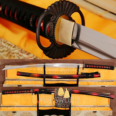 Handmade Japanese Samurai Sword Katana Full Tang 1060 Carbon Steel Blade Sharp