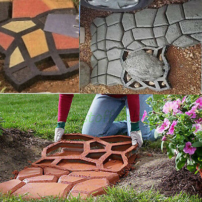Diy Plastic Path Maker Mold Manually Paving Cement Brick Molds The Stone Road