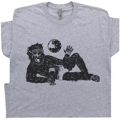 Wolfman Drinking Wine T Shirt Funny Vintage Halloween Werewolf Absinthe Tequila  - Halloween Tequila Drinks