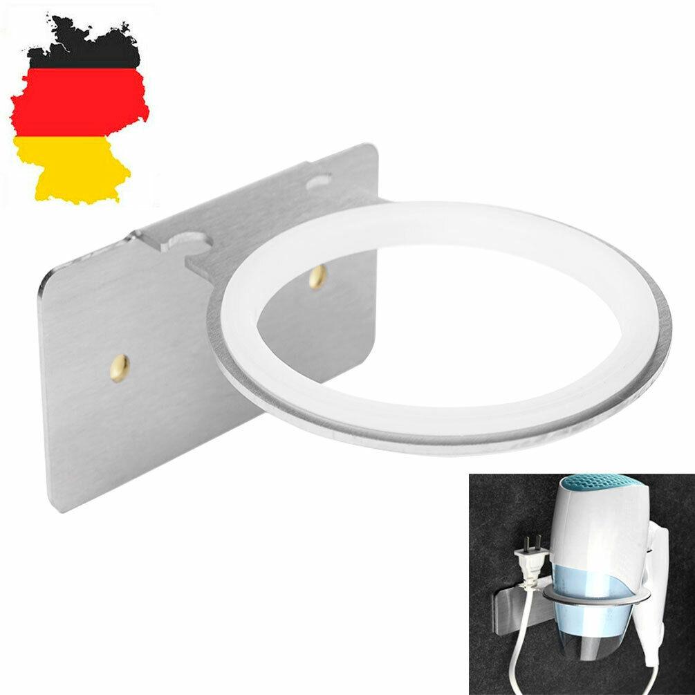 2* Fönhalter Wandhalterung Haartrockner Föhnhalter Bad Seifenkiste Becherhalter