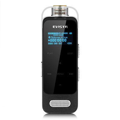 EVISTR Portable Digital Recorder Stereo HD Recording 8GB Voice Activated Recorde