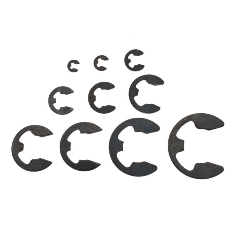 120Pcs Carbon Steel E-Clip Assortment External Retaining Ring Set Fastener US