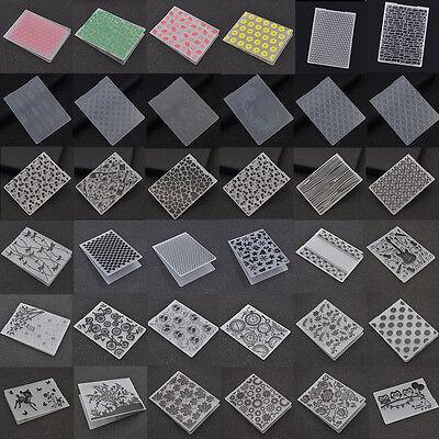 Plastic Embossing Folder Template DIY Scrapbook  Paper Craft Various - Paper Embossing