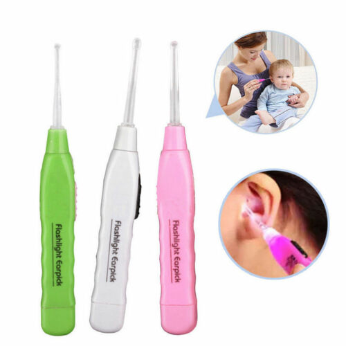 Fashion Adult Kid LED Light Flashlight Ear Cleaning Remover Tweezer Earpick New