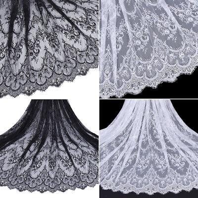 Dekosotff Weiß Schwarz Lace Spitzenband DIY Hochzeit Kleid Bestickt Nähen Stoffe