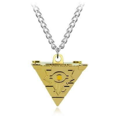 3d Pyramid Puzzle - Yu-Gi-Oh 3D Millenium Puzzle 4 Sided Pyramid Metal Pendant NECKLACE