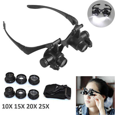 Various Magnification Focus on Binocular Magnifier Glasses Loupe with Free Lens
