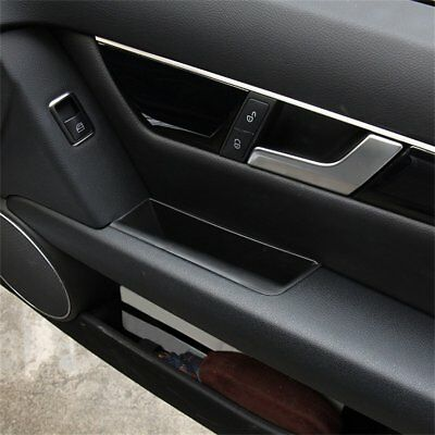 For Mercedes Benz C Class W204 2008-2014 2X Door Side Storage Box Handle Armrest