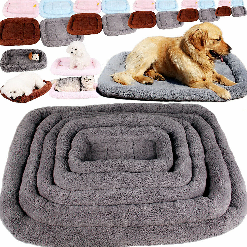 Pet Bed for Dog Cat Crate Mat Soft Warm Pad Liner Home Outdo