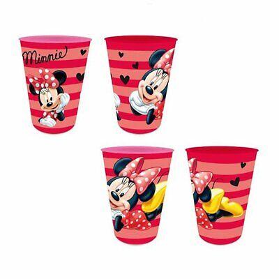 Disney Minnie Mouse Maus Kinder Trink-Becher 4er - Disney Minnie Maus Becher