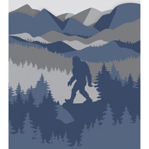 "Bigfoot Sasquatch Mountain Woods Warm Fleece Plush Throw Blanket 50"" x 60"""