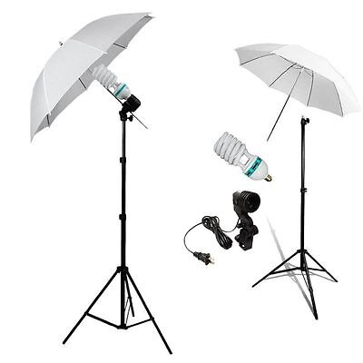 Photography Studio Continuous Lighting One Umbrella Light Lamp Stand Kit BE