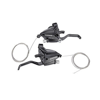 SHIMANO Bike Brake Shifters Set Brake Levers & Shift Levers EF500-7 3x7S Black Trigger Shift Levers