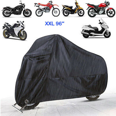 Motorcycle Cover All Weather Deluxe Waterproof Bike Tarp for 125cc-150cc -