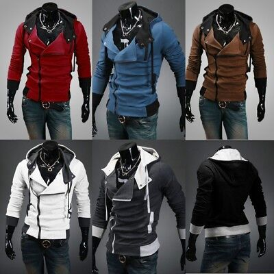 Fashion Creed Hoodie men's Cosplay For Assassins Cool Slim Jacket Costume New