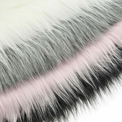 Faux Fox Fur Plush Clothing Fabric Sewing DIY Photographing Sofa Bed Decor US