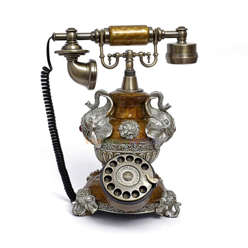 elephant rotary phone antique retro vintage home office. Black Bedroom Furniture Sets. Home Design Ideas