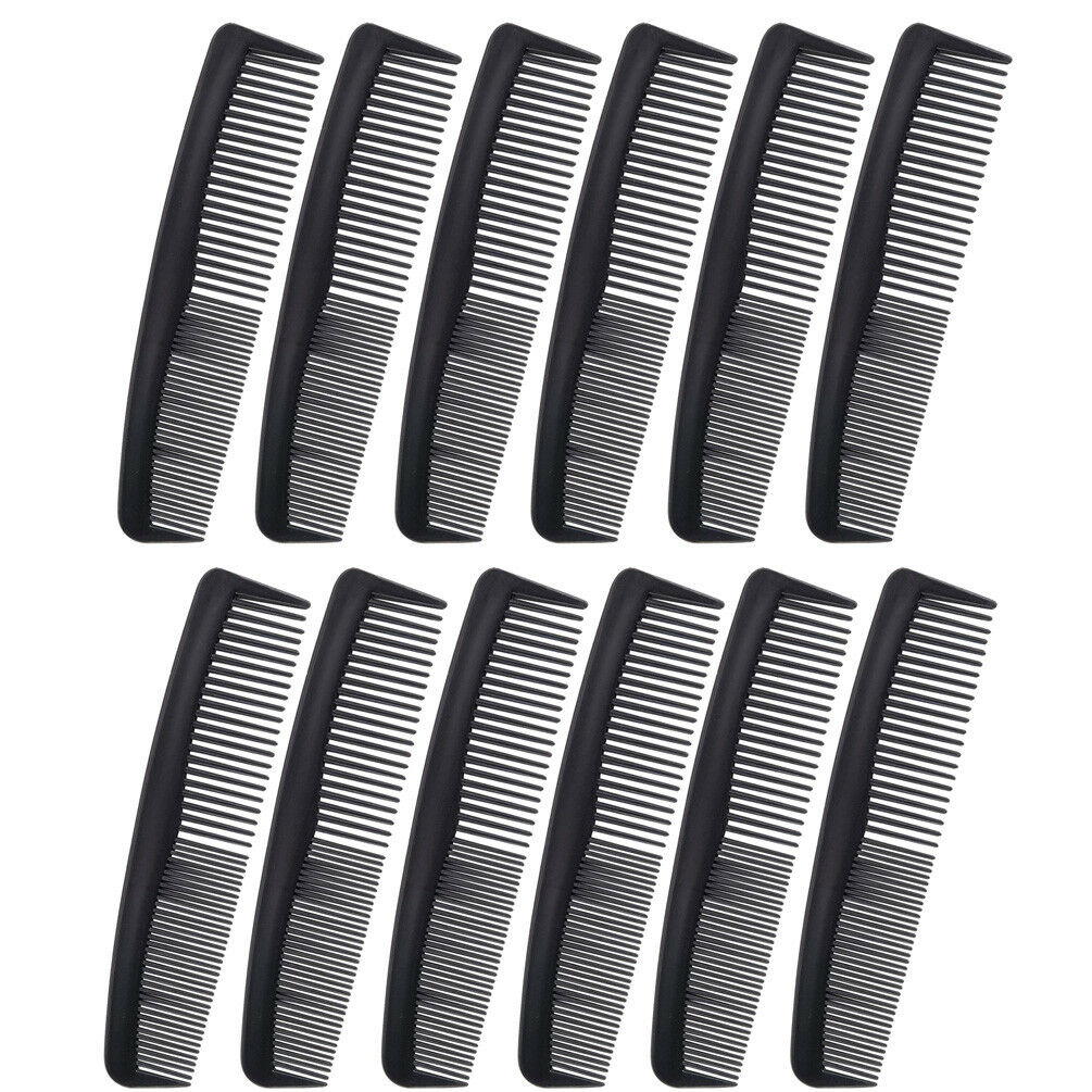 """Favorict (12 Pack) Flexible Thin 5"""" Pocket Hair Comb Beard & Mustache Combs"""