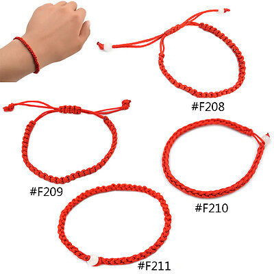Geflochten Armband Glück Rote Schnur Armspange Chinesisch Damen Herren Geschenk (Chinesische Rote Schnur Armband)