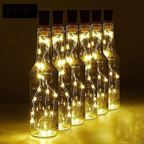 20PCS Battery Wine Bottle Lighting Cork Shaped Bar String LED Lights Party Home