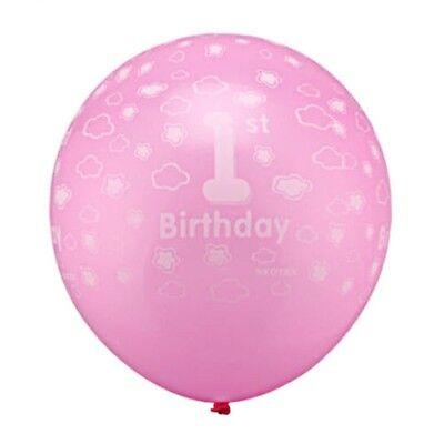 Luftballon 1 Geburtstag  10 Stk Mädchen Kinder Party Dekoration Ballon rosa ++