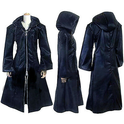 Kingdom Hearts Organization XIII Coat Hoodie Outfit Halloween Cosplay Costume