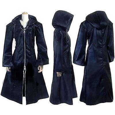 Kingdom Hearts Organization XIII Coat Hoodie Outfit Halloween Cosplay Costume  - Kingdom Hearts Outfits