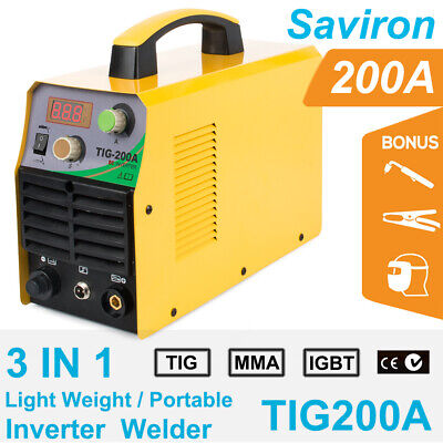 Tig 110220v Inverter 200a Argon Gas Wig Arc Stick Mma Welding Machine Welder