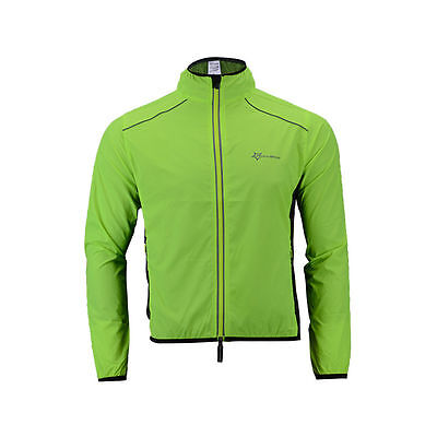 RockBros Bike Wind Coat Jacket Long Sleeve Cycling Jersey Green Size XL